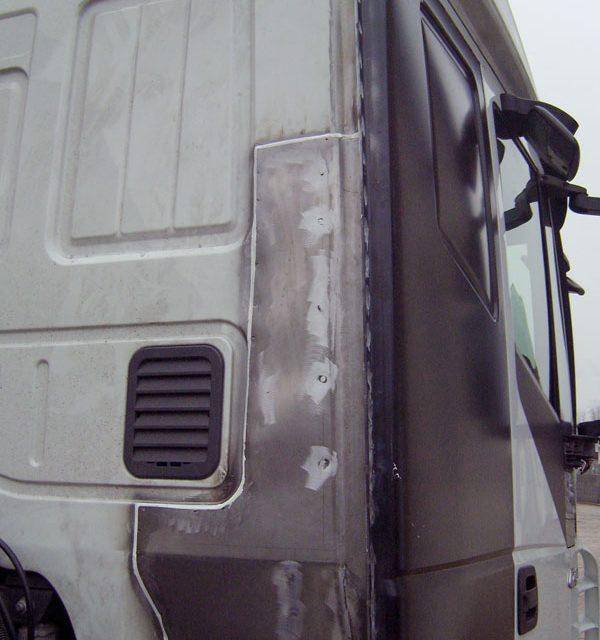 Reparatur Lkw-Fahrerkabine