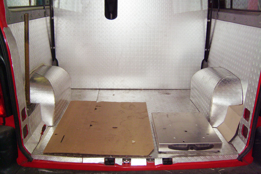 Innenausstattung aus Aluminium für Feuerwehrfahrzeug